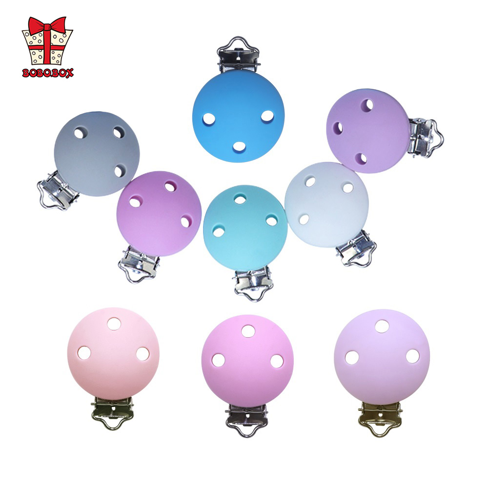 BOBO.BOX 2pcs Baby Pacifier Chain Clips Teething Silicone Holder Soothing Pacifier Accessories Clip Nipple Clasps Toy DIY Beads