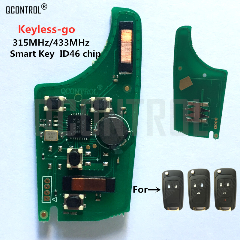 QCONTROL <font><b>Car</b></font> Control Remote <font><b>Key</b></font> <font><b>Electronic</b></font> Circuit Board for Chevrolet 315MHz / 433MHz ID46 Chip Keyless-go Comfort-access image
