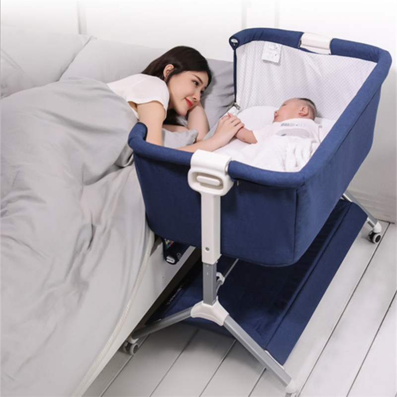 Baby Crib Splicing Large Bed Baby Portable Bed Connected With Parents' Normal Big Bed Infant Travel Sleeper Portable Cot