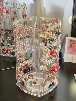 Acrylic material Jewelry Display Holds Up Earring Holder And Jewelry Organizer