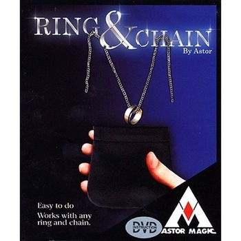 Ring And Chain By Astor Magic Props Close Up Magic Tool Magician Accessories For Professional Magicians image