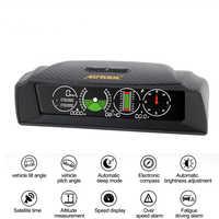 AUTOOL X90 GPS Geschwindigkeit Hang Meter Neigungsmesser Auto HUD Pitch Automotive Tilt Winkel Winkelmesser Breite Länge Kompass