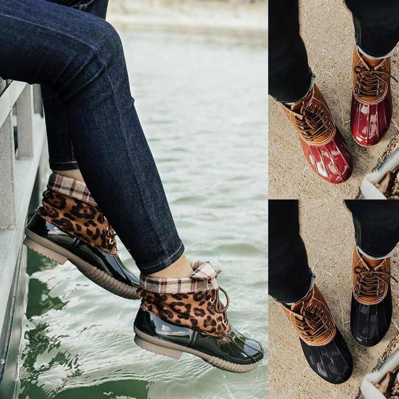 2019 bayan botları sonbahar kış tıknaz bayanlar ayakkabı leopar deri seksi dantel-up çizmeler kadın ayakkabıları sonbahar ve kış