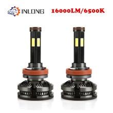 Вдлительную мини Canbus лампада H4 H7 светодиодный автомобилей головной светильник 12V 16000LM 6500 к фары H1 9005 HB3 9006 HB4 H8 H9 H11 светодиодный туман светильник лампочка