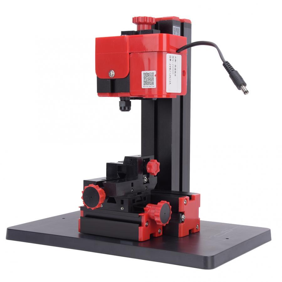 6In1 Functional Mini Wood Metal Lathe DIY Tool Jigsaw Milling Drilling Machine
