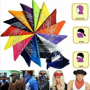 Новинка 2020, горячая Распродажа, шарф, повязка на голову, повязка на голову, хлопок, повязка на голову, повязка на шею, браслет, платок, черный, ...