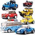 STADT Große Off-Road Fahrzeug GESCHWINDIGKEIT CHAMPIONS Auto Setzt Gebäude Block Kit Ziegel Modell Kinder Spielzeug London Doppel Decker bus Technik