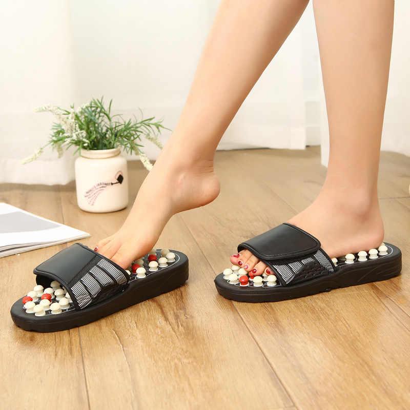 Chinese Traditionele Massage Slippers Medische Voeten Acupressuur Unisex Schoenen Fitness Acupunt Therapie Gezondheid Kung Fu Sandalen