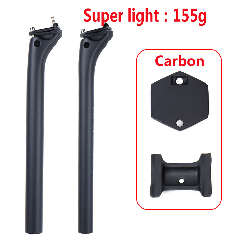 Road Bike Seatpost Carbon Fiber 27.2/30.9/31.6mm Mountain Bike Carbon Seat Post Offset 20mm Light 155g