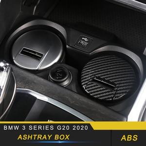 Para BMW Serie 3 G20 2020, cenicero para coche con estilo, caja con Cenicero, accesorios interiores
