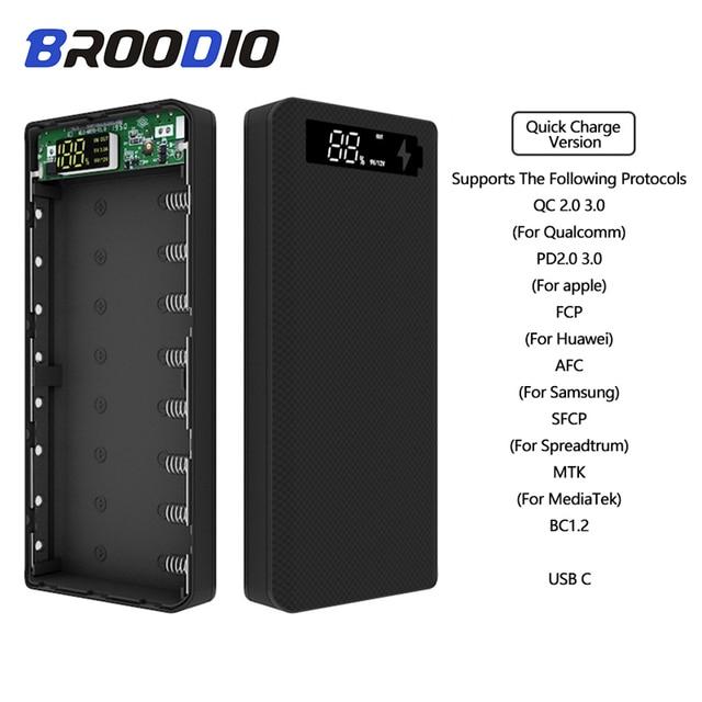 Hızlı şarj sürüm 5V çift USB 8*18650 taşınabilir güç kaynağı kılıfı cep telefonu şarj cihazı QC 3.0 DIY kabuk 18650 pil tutucu şarj kutusu