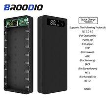 Versione di ricarica rapida 5V Dual USB 8*18650 custodia per banca di potere caricabatterie per cellulare QC 3.0 scatola di ricarica per portabatterie Shell 18650 fai da te