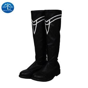 Image 3 - Manluyunxiao أحذية عالية Byleth تأثيري هالوين زي للرجال الكبار النار شعار ثلاثة منازل فو الجلود السوداء الذكور الأحذية