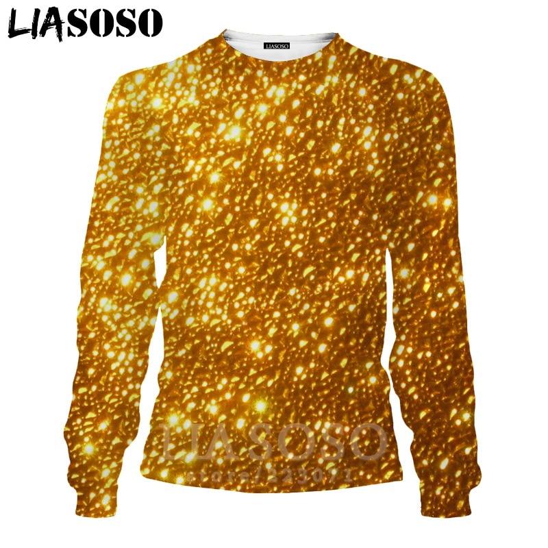 LIASOSO 3D Print Gold Sweatshirt Autumn Long Sleeve Glow Diamond Men`s Shirt Anime Women Fashion Tops O Neck Men Clothing D017-7 (1)