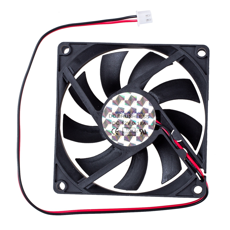 New DC 12V 0.18A 2 Pin Connector PC Computer Case Cooling Fan 80x80mm