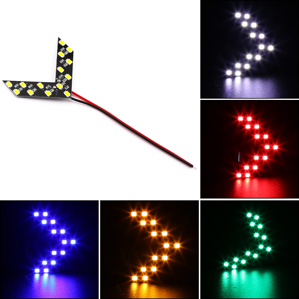 Cool 14 SMD Car LED Daytime Running Lights Arrow Panel Led Fog Lights For Car Turn Signal Indicator Rearview Mirror Lamp