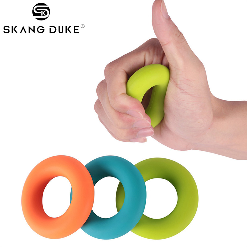 1PC Professional Hand Grip Ring 30-50LB Silicone Finger Force Trainer Gym Crossfit Elastic Finger Strength Exerciser Grips