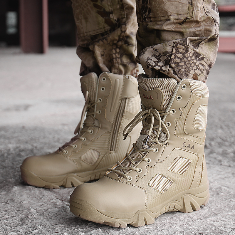 MEN'S SHOES Large Size Combat Boots Special Forces Combat Boots Men's Anti-slip Wear-Resistant Outdoor Climbing Boots