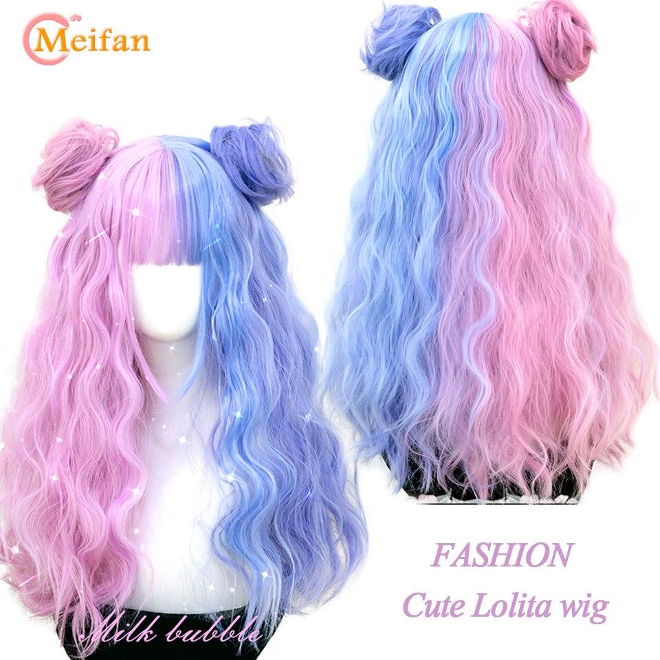 cor longa ondulado encaracolado peruca cosplay com