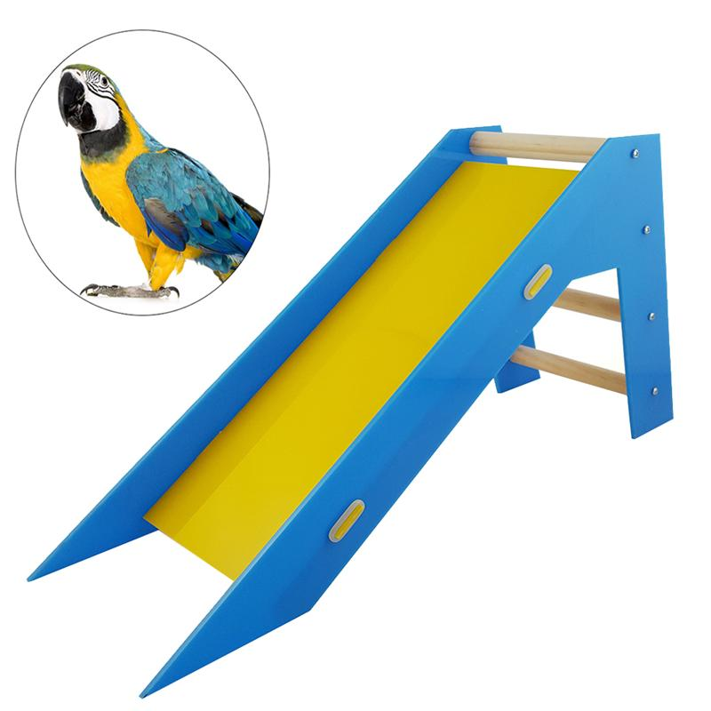 1Pc font b pet b font bird Slide Ladder Skill Trainng Educational Toy Bird Toy Slide