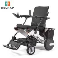 Electric aluminum alloy folding lightweight portable elderly stroller elderly disabled four Power wheelchair