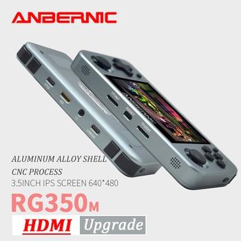 ANBERNIC RG350M Retro Games Aluminum Alloy IPS Screen PS1 Gift Video Games Console Emulators Handheld Game Player RG351 HDMI TV