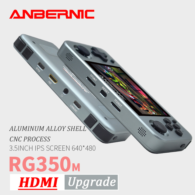 ANBERNIC RG350M Retro Games Aluminum Alloy IPS Screen PS1 gift Video Games console Emulators Handheld Game Player RG350 HDMI TV