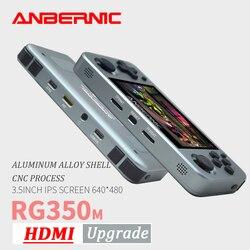 ANBERNIC RG350M Retro Games pantalla IPS de aleación de aluminio PS1 regalo videojuegos consola emuladores mando de juegos RG351 HDMI TV