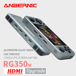 ANBERNIC RG350M Retro Spiele Aluminium Legierung IPS Bildschirm PS1 geschenk Video Spiele konsole Emulatoren Handheld-Spiel-Spieler RG351 HDMI TV