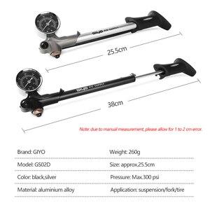 Image 2 - GIYO GS 02D מתקפל 300psi בלחץ גבוה אופני אוויר הלם משאבת עם מנוף & מד עבור מזלג & אחורי השעיה הרי אופניים