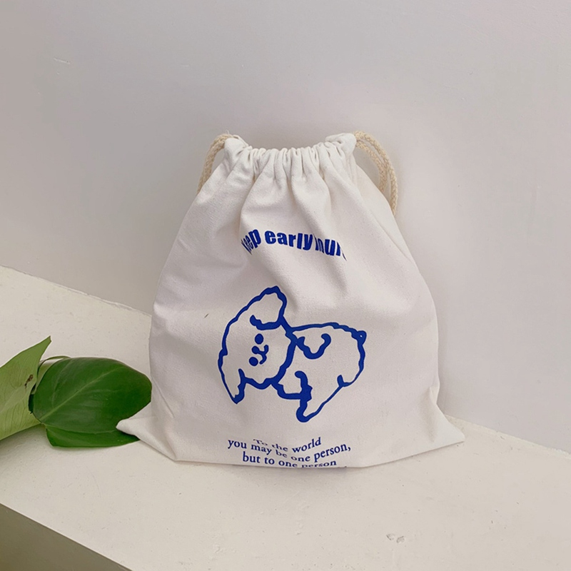 Shopping Bag Canvas Storage Package Bags Drawstring Bag Small Coin Purse Travel Women Cloth Bag Gift Pouch