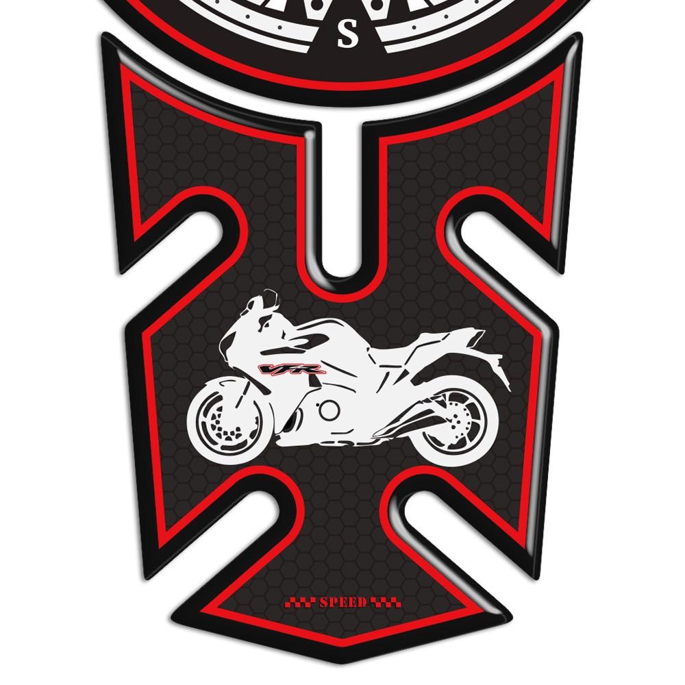Color : A VFR 400 750 800 F 1200X X Panel de Motos 3D Pegatinas Lateral del Protector for el carenado Honda Adhesivos Insignia del Emblema de Protecci/ón del coj/ín del Tanque