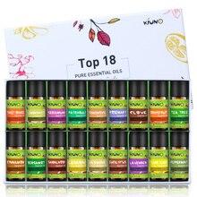 KIUNO 8ml 18pcs/Lot Gift Box Set Essential Oils For Massage