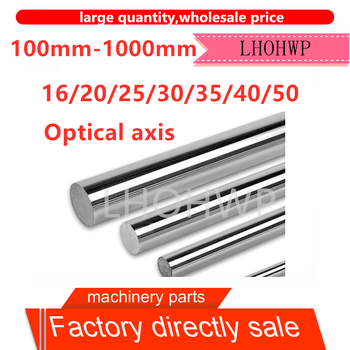 45# steel chrome-plated rod/linear optical axis/soft shaft/piston rod/diameter 16 20 25 30  40 50 length 100-1000mm/polished rod - discount item  5% OFF Hardware