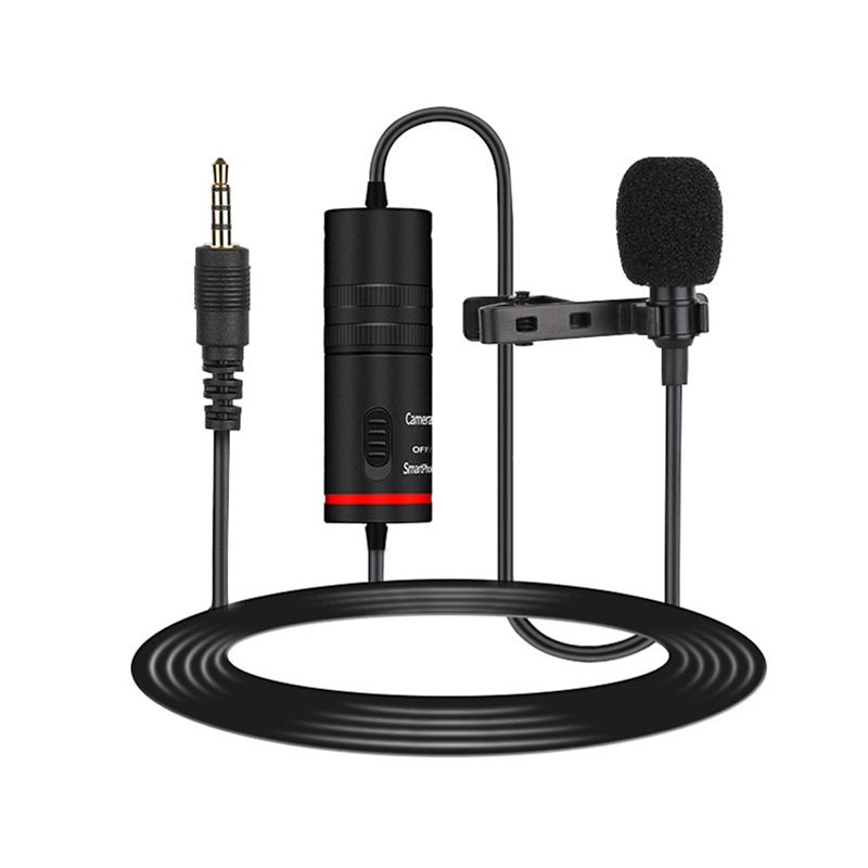 Lavalier Microphone Lapel Condenser Mic Omnidirectional Noise Canceling For Camera And Phone