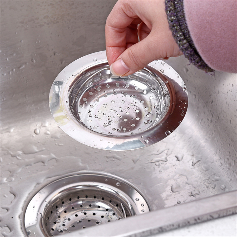 200 Pcs Kitchen Sink Strainer With Handle Stainless Steel Sink Garbage Disposal Stopper Mesh Basket Drain Filter Wholesale