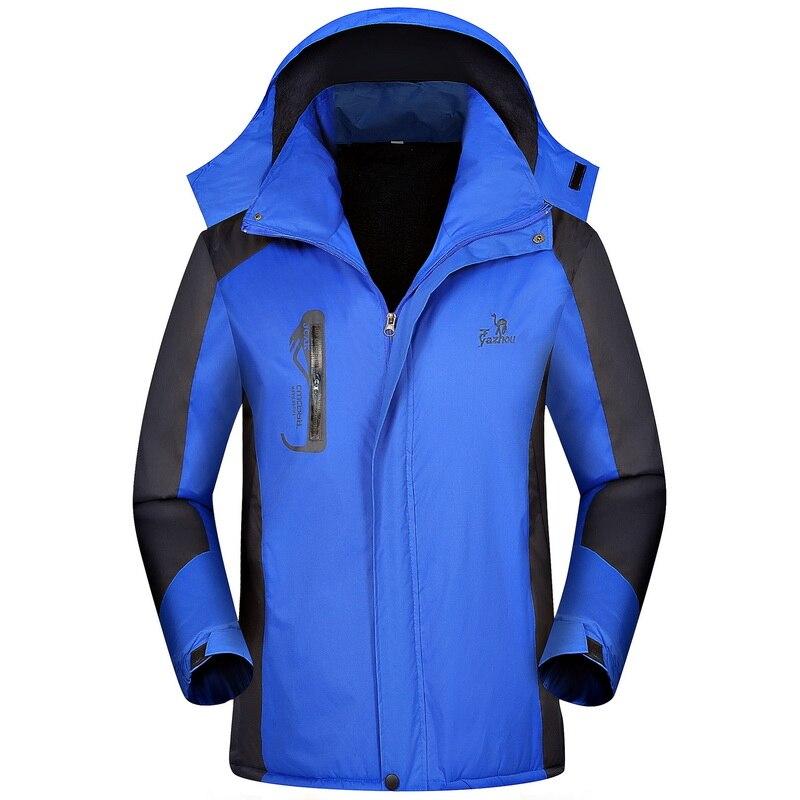 Jacket Men's Plus Velvet Thick Warm Jacket Waterproof Windproof Outdoor Sports Windbreaker Large Size 6XL Waterproof Jacket