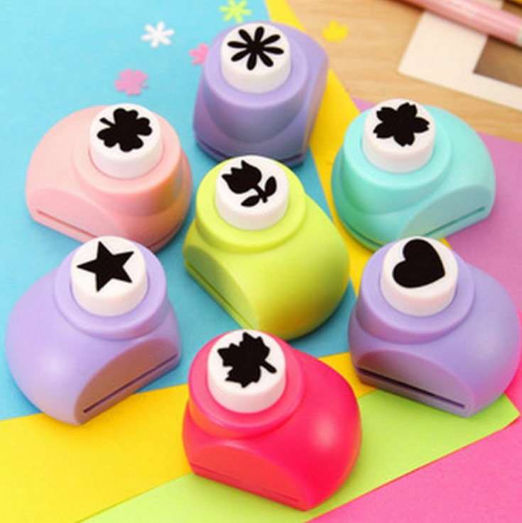 New Mini Scrapbooking Punches Handmade Cutter Card Craft Printing DIY Paper Hole Puncher Shape Clip Photo Flower Star Animal