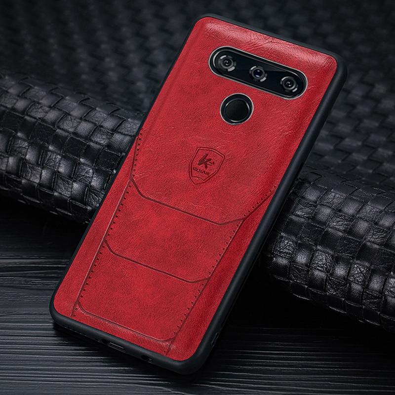 Чехол из искусственной кожи для моделей автомобилей LG K50 Q60, мягкий Стильный силиконовый чехол, чехол из искусственной кожи для LG G8 V40, чехол Thinq