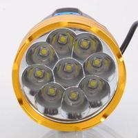 8.4V Wateprroof 9L2 18000 Lumens Cycling Helmet Bicycle Lamp 9 x XM L L2 LED Bike Light & Headlight Headlamp 3 Modes