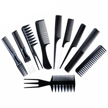 10 Piece Set Fashion Hair Comb Multi-Function Anti-Static Massage Comb Straight Hair Comb Green Plastic Hair Comb multi shaped hair comb set 10pcs