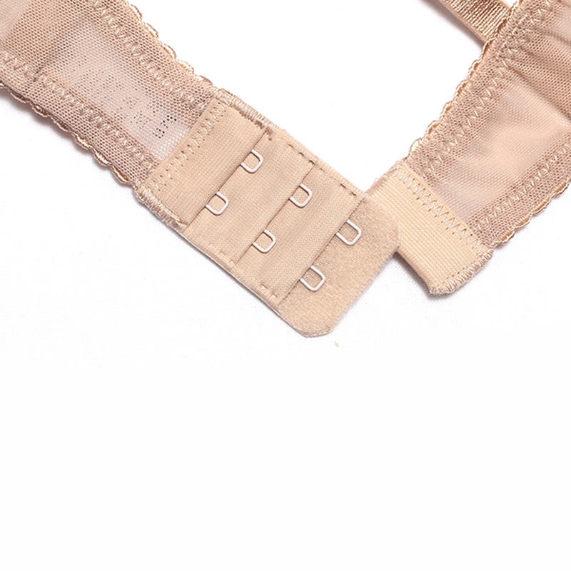 Image 5 - カップ透明ブラセットランジェリー女性刺繍メッシュブラジャーブラフリルストラップ裏地なし下着セクシーな彼女のためのギフトブラジャー & ブリーフセット   -
