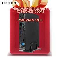 High end Mini Game PC Intel Core i9 9900 GTX 1650 4GB Discrete Graphics Processor M.2 NVMe HDMI2.0 AC WIFI Quality from Germany