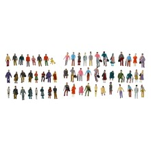 124 Pcs Colorful Painted Sand Table Model Railway Passenger Figures Scale 1 To 87 & 1:150(China)
