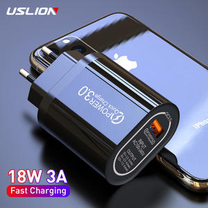 USLION 5V 3A Quick Charge 3.0 USB Charger for iPhone X MAX  QC3.0 EU Wall Phone Charger Fast Charging Adapter For Samsung Xiaomi