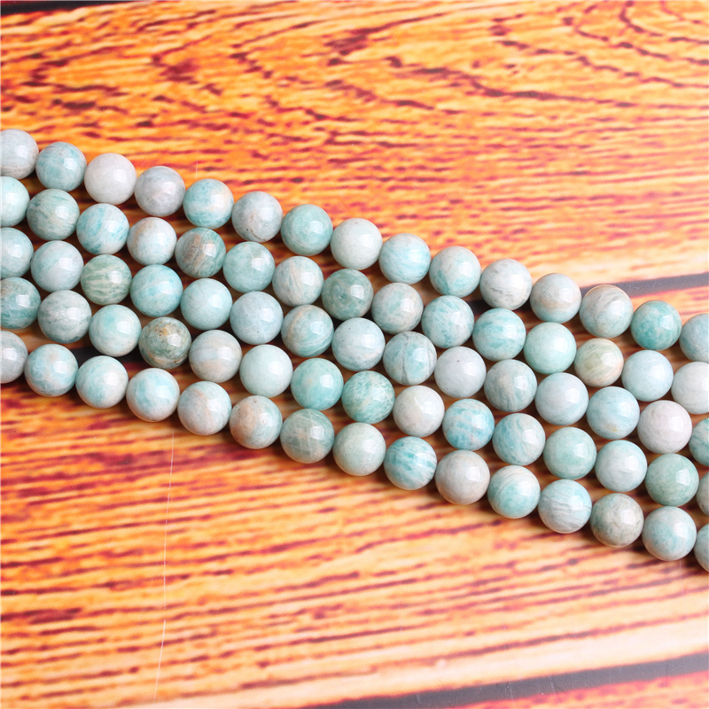 Tianhe Stone Natural Stone Bead Round Loose Spaced Beads 15 Inch Strand 4/6/8 / 10mm For Jewelry Making DIY Bracelet Necklace