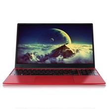 Ноутбук 15,6 дюймов 6 ГБ ОЗУ ноутбук J3455 четырехъядерный 1080P IPS Windows 10 полноразмерная клавиатура Bluetooth 4,0 модный красный с RJ45
