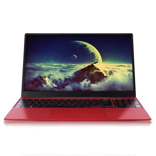 Caderno 15.6 Polegada 6 gb ram computador portátil j3455 quad core 1080 p ips windows 10 layout completo teclado bluetooth 4.0 vermelho da forma com rj45