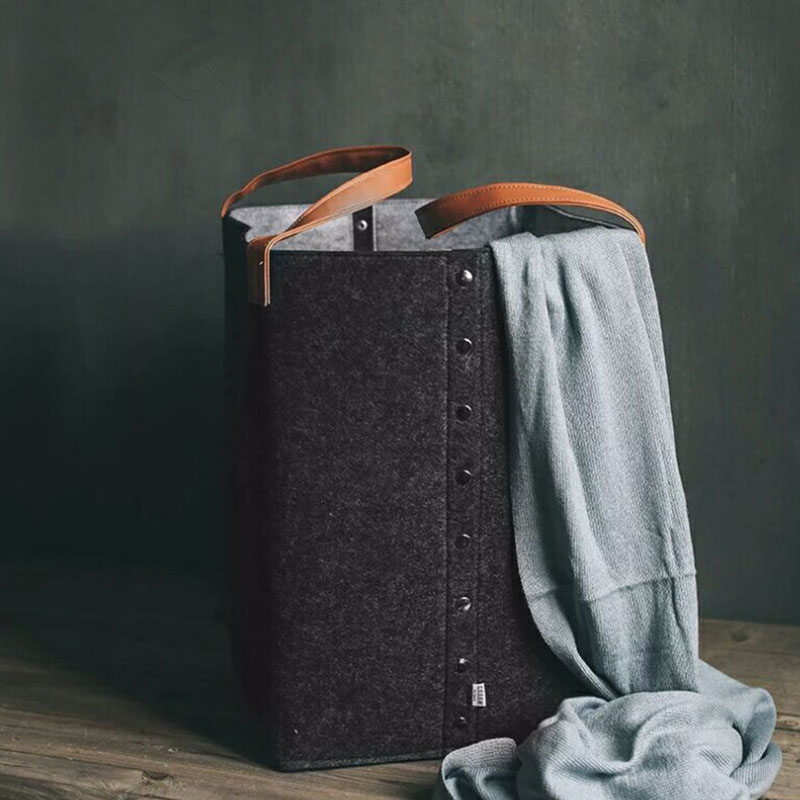 Foldable Laundry Hamper Basket With Handle Sorter Organizer Storage Box Home Supplies BJStore
