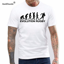 New Summer Evolution Rugbying Sporting T Shirt Men Casual Cotton Short Sleeve Funny T-shirt Mans Tshirt(China)